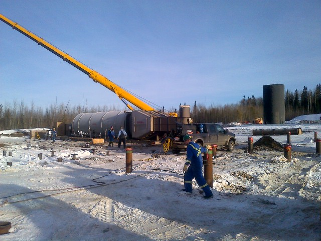 Oil Facility Construction : Deep well oil gas inc edmonton alberta canada